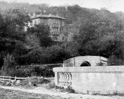 Old photograph showing Bridge 177 of the K&A Canal in the background